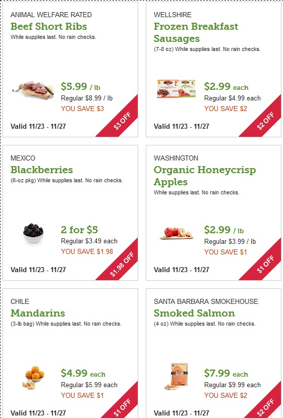 Whole Foods Market Black Friday page 1